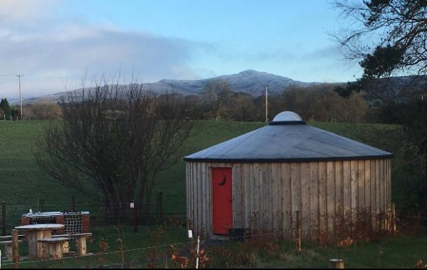 Yurt in winter